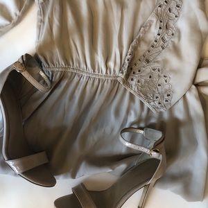 Tan cotton dress